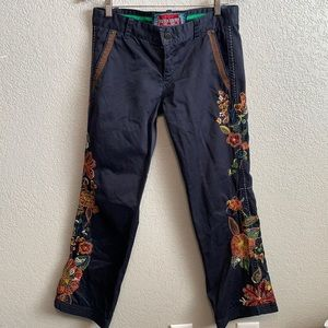 Biya Two Ten Ten Five embroidered pants size 8